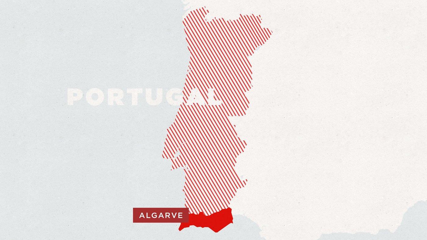 Karte Algarve