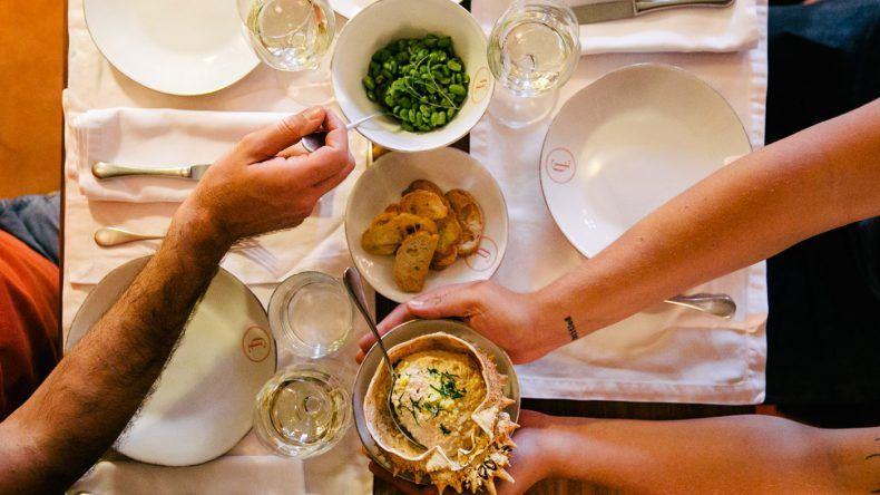 Essen im Café Lisboa