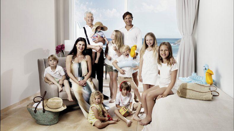 Familie in der Dachmarkenkampagne