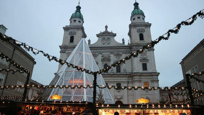 Aussicht auf den Salzburger Christkindlmarkt