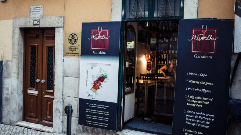 Eingang BA Wine Bar