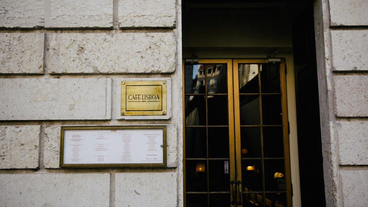 Café Lisboa Eingang