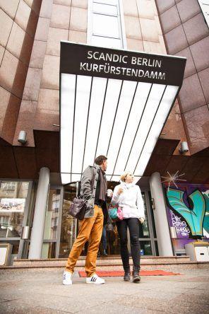 Eingang des Scandic Berlin Kurfürstendamm