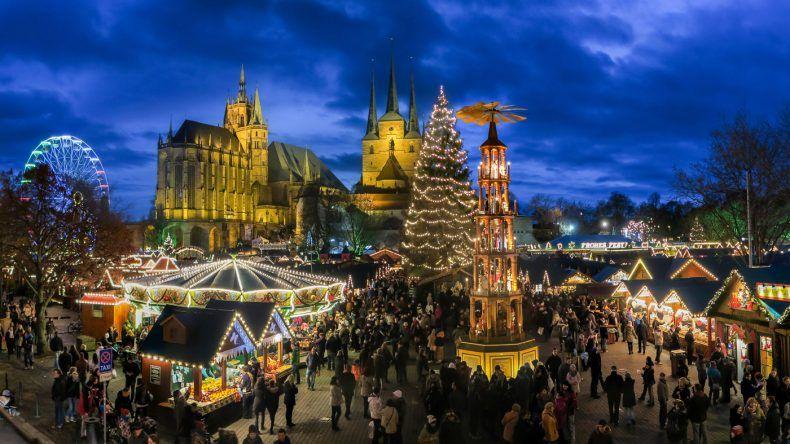 Weihnachtspyramide Erfurter Weihnachtsmarkt © Matthias Schmidt