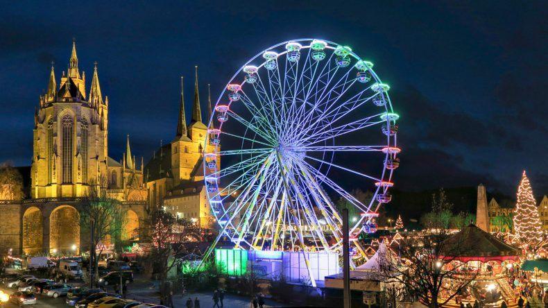 Panorama Erfurter Weihnachtsmarkt © Matthias Schmidt