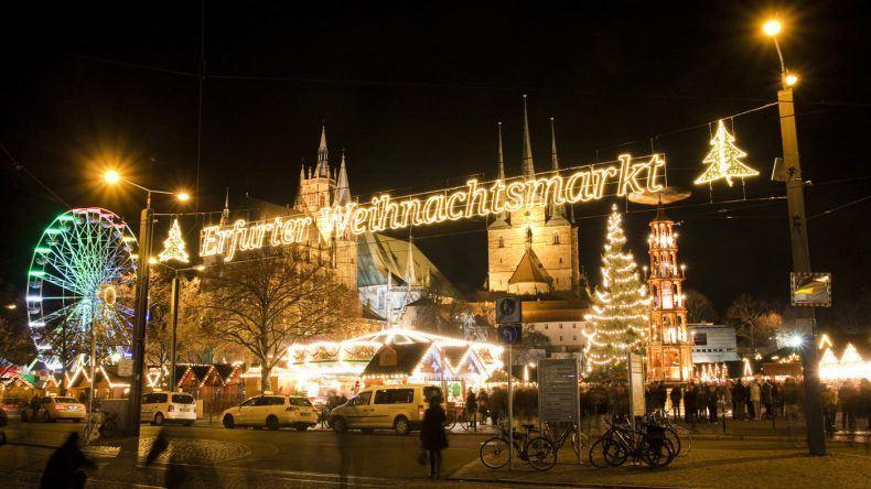 Erfurter Weihnachtsmarkt auf dem Domplatz © Stadtverwaltung Erfurt