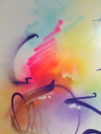 Graffitikunst von AJJA im Kunstzimmer