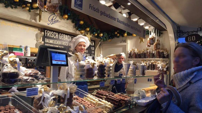 Markt der Engel Baumkuchenstand