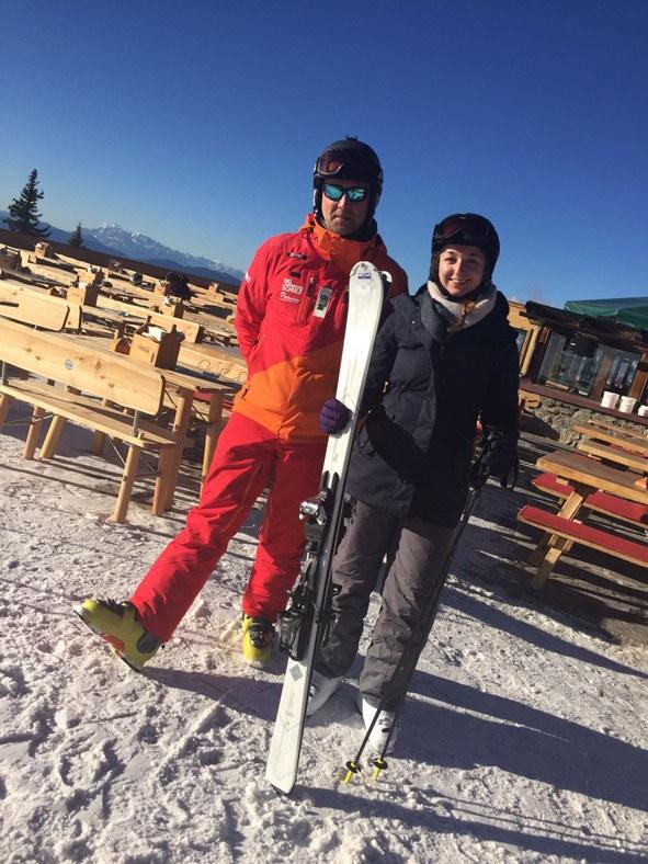 Skilehrer Oliver von der Skischule Tritscher und ich