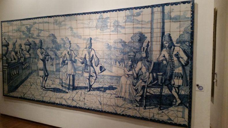 Fliesengemälde im Museu Nacional do Azulejo