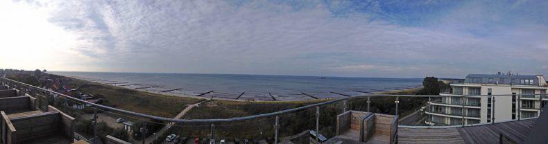 Traumhafter Blick vom Hotel auf die Ostsee