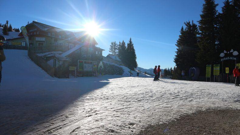 Skifahrer auf der Planai