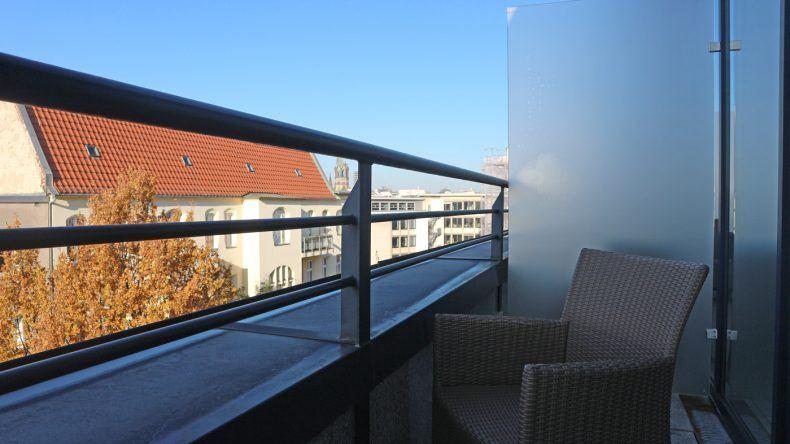 Ausblick vom großen Balkon