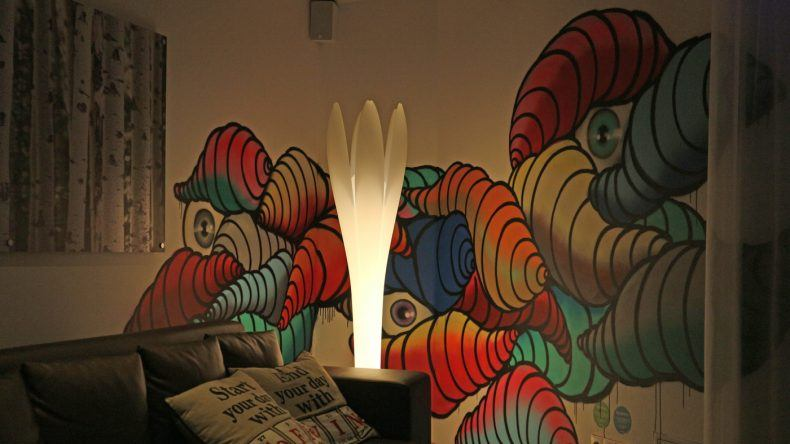 Auch sehr künstlerisch: Die Lobby im Scandic