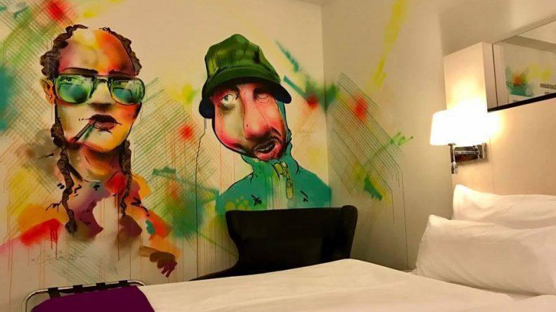 Graffitikunst von Gouge im Kunstzimmer