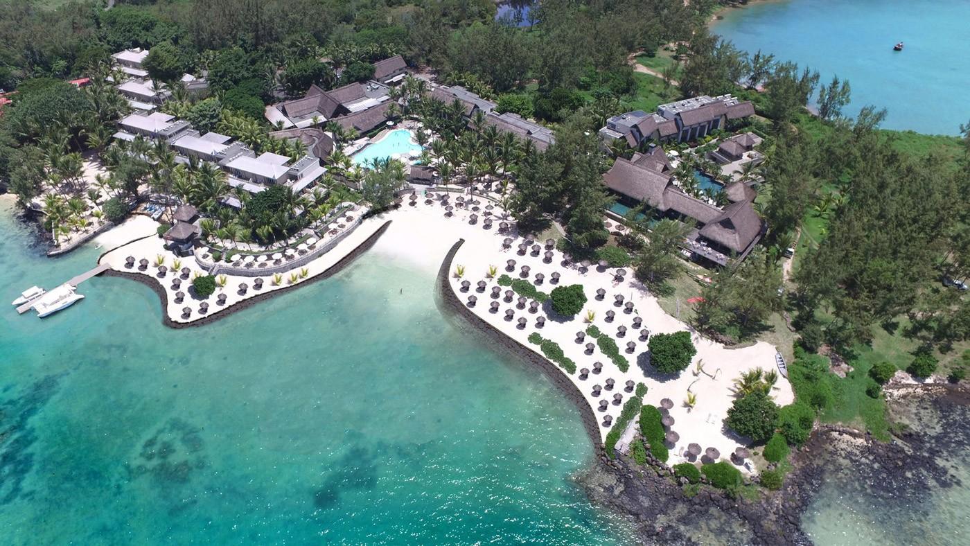 Das traumhafte SENSIMAR Lagoon Mauritius von oben