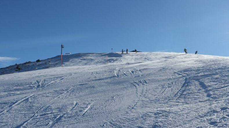 Die Skiabfahrt