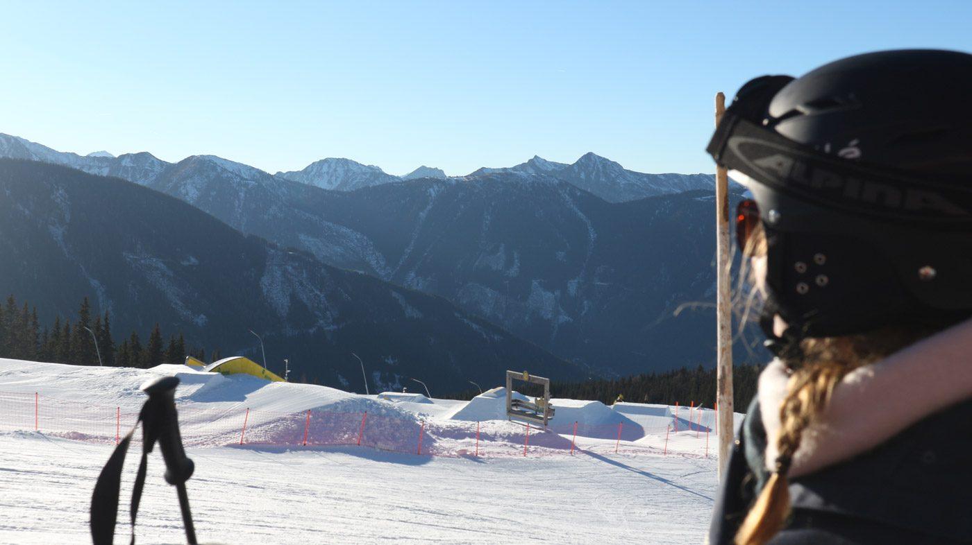 Pause beim Skikurs