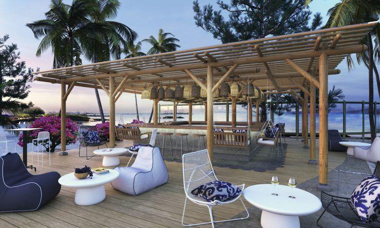 Terrasse des SENSIMAR Lagoon Mauritius