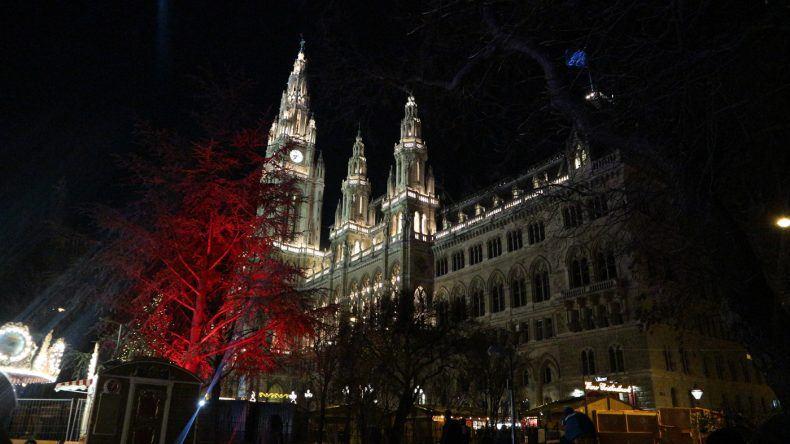 Wiener Christkindlmarkt Aussicht