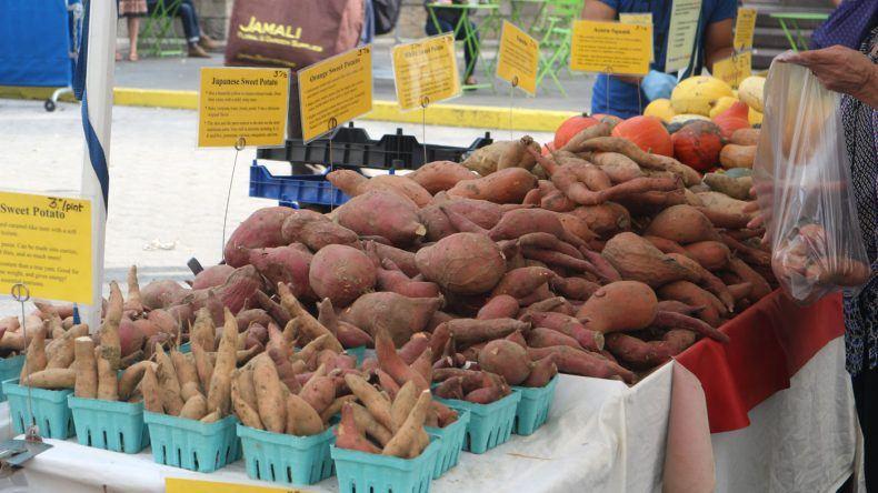 Süßkartoffeln, Kürbisse, Salat: Hier gibt es alles was das Herz begehrt!