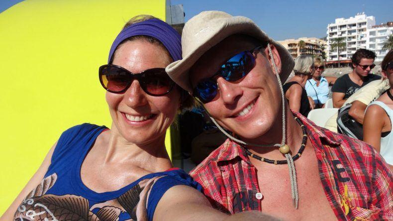 Caro und ihr Freund auf Formentera