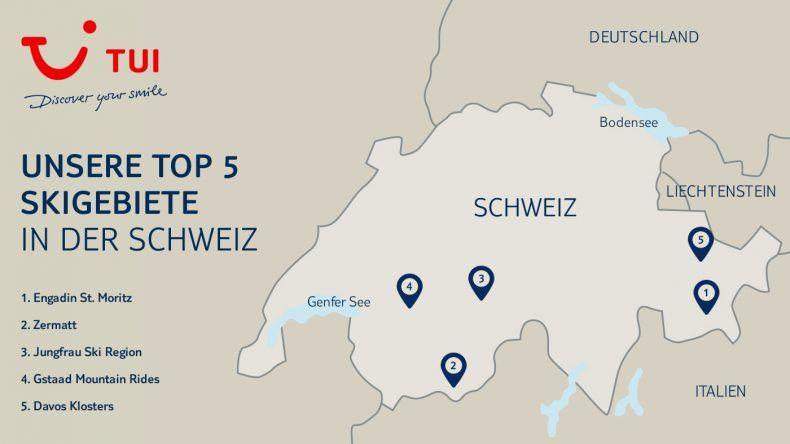 Unsere TOP 5 Skigebiete der Schweiz