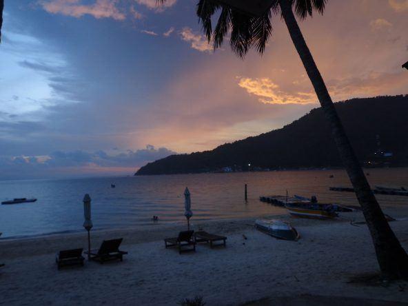 Perhentian Islands: Sonnenuntergang am Teluk Pauh