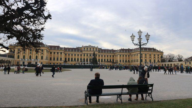 Schön, das Schloss Schönbrunn