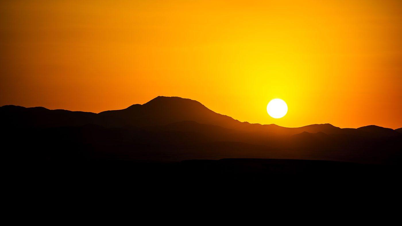 Christian Tews in Ägypten: Sonnenuntergang