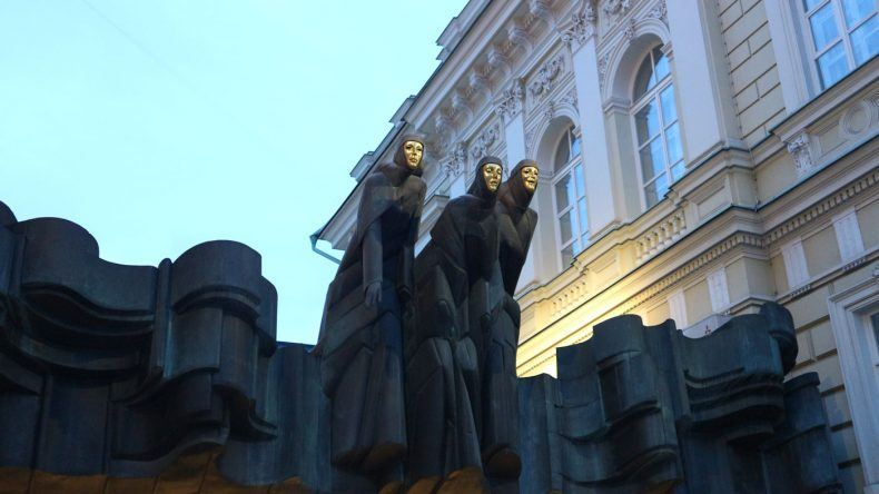 Die drei Musen am litauischen Nationaltheater