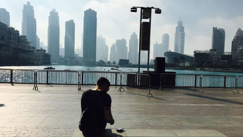 Blick auf Dubais Skyline