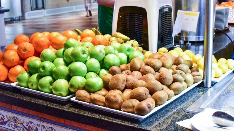 Frisches Obst ist in den meisten Hotels Standard