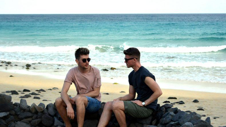 John und Steven am Strand des TUI MAGIC LIFE auf Fuerteventura