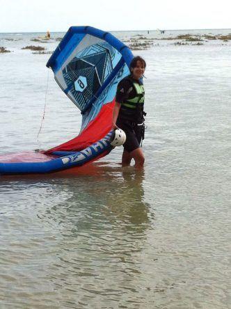 erste Schritte als Kitesurfer