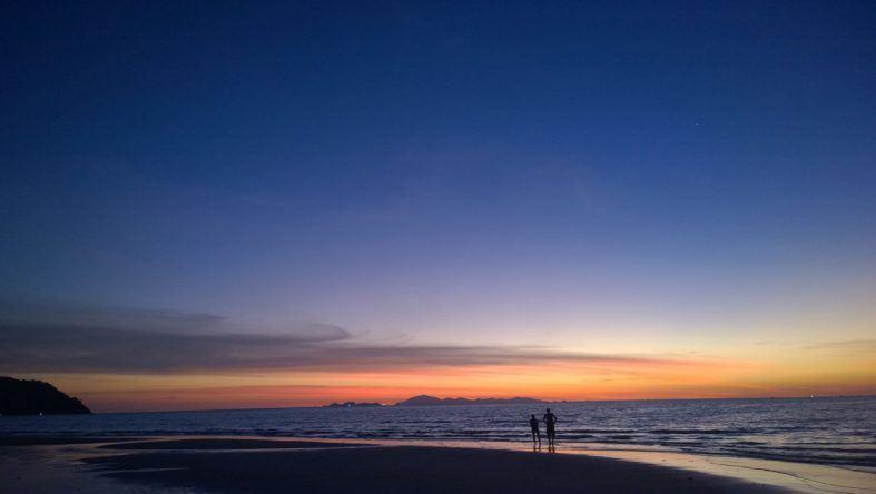 Sonnenuntergang auf Thailand