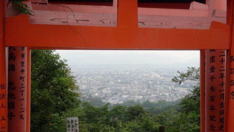 Hier habt ihr einen traumhaften Blick über Kyoto