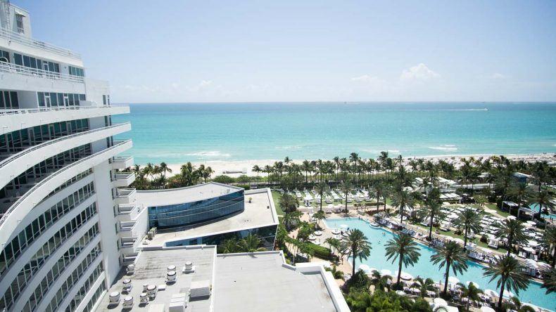 Ausblick über Miami vom Fontainebleau Miami Beach