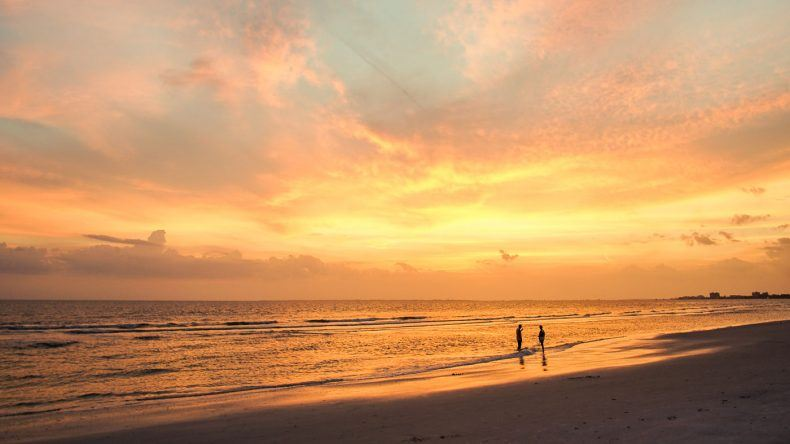 Myers Beach kurz nach Sonnenuntergang