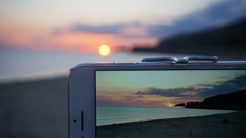 Sonnenaufgang im iPhone Mallorca