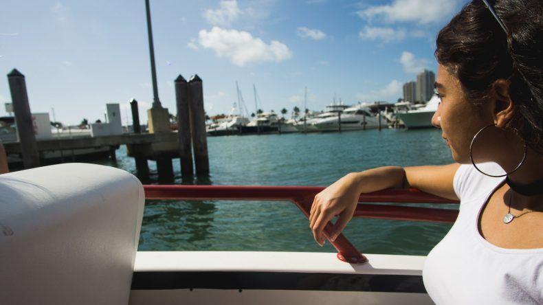 Eda bei unserer Speedboat Tour durch Miami