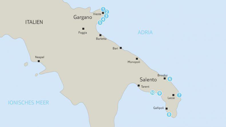 Strände in Apulien