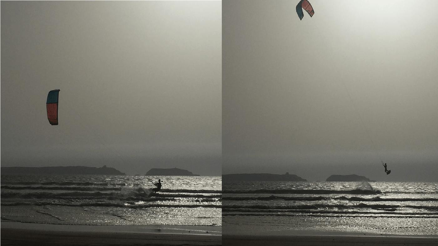 Kitesurfer in Essaouira, Marokko