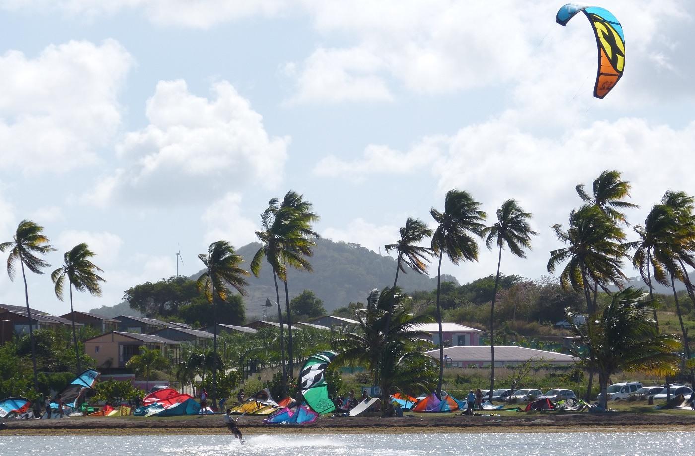 Kitesurfer auf Martinique
