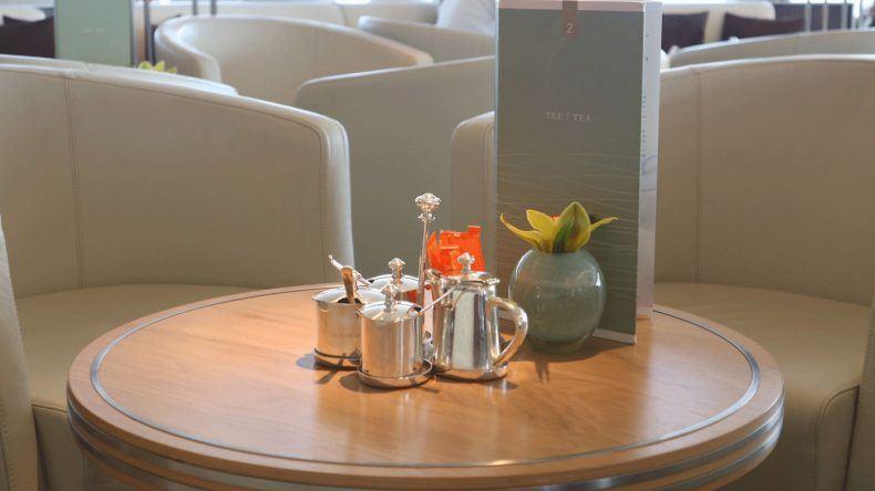 Kaffee, Tee und Gebäck stehen im Belvedere für euch bereit.