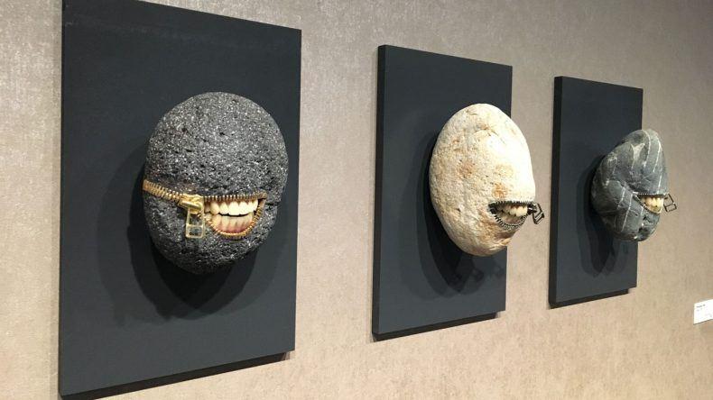 Diese drei Kunstobjekte wirken schon sehr skurril, fallen aber definitiv auf