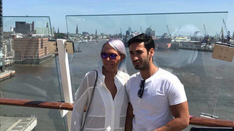 Natascha Ochsenknecht und Freund Umut Kekili bei der Taufe der Mein Schiff 6
