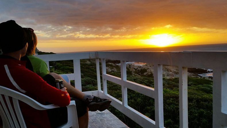 Sonnenuntergang auf Südafrika