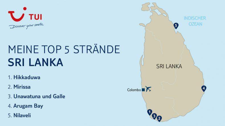 Meine TOP 5 Sri Lanka Strände für euch im Überblick
