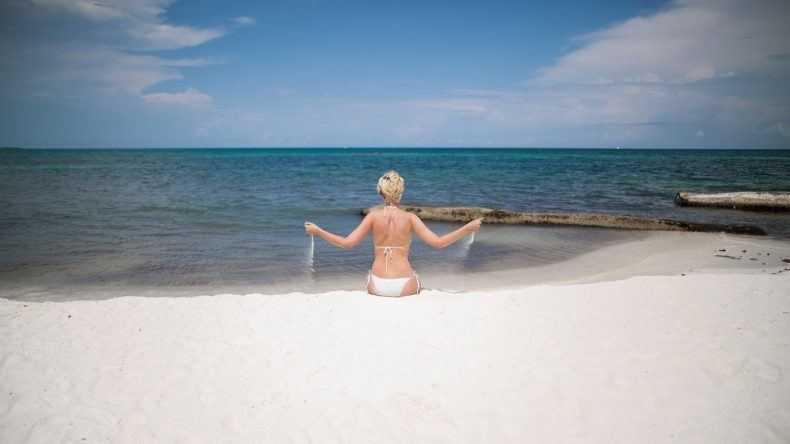 Der Strand vom Banyan Tree Mayakoba